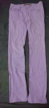美品 デニム パープル パステルカラー ズボン パンツ スキニー
