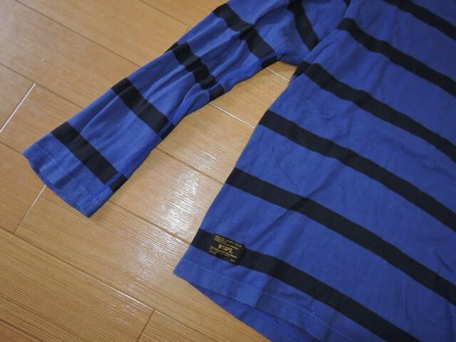 ダブルタップスWTAPSボーダーロンTシャツM青黒カットソー152 < ブランドの