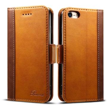Phone8 ケース iPhone7ケース 手帳型ブラウン 4.7inch