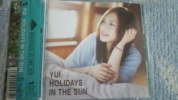 激安!超レア!☆YUI/HOLIDAYS IN THE SUN☆初回盤/CD+DVD帯付き!