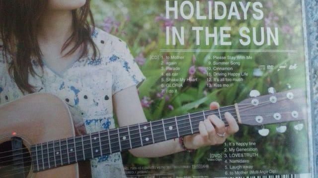 激安!超レア!☆YUI/HOLIDAYS IN THE SUN☆初回盤/CD+DVD帯付き! < タレントグッズの