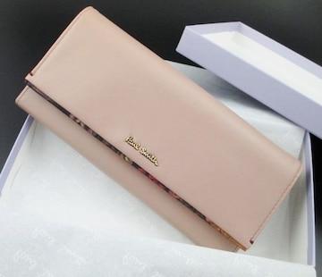 新品☆箱付 ポールスミス 人気花柄デザイン 長財布 ピンク