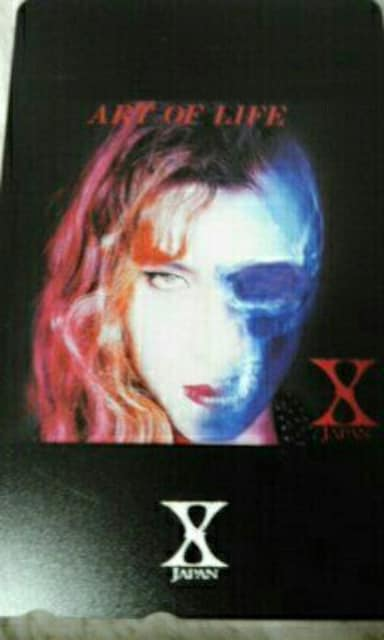 新品未使用 X JAPAN テレカ ART OF LIFE YOSHIKI hide ToshI  < タレントグッズの