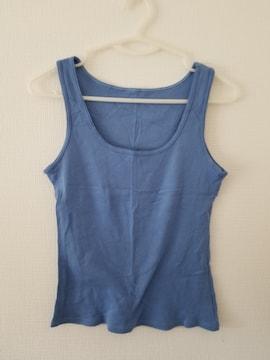 青無地袖なしシャツB160