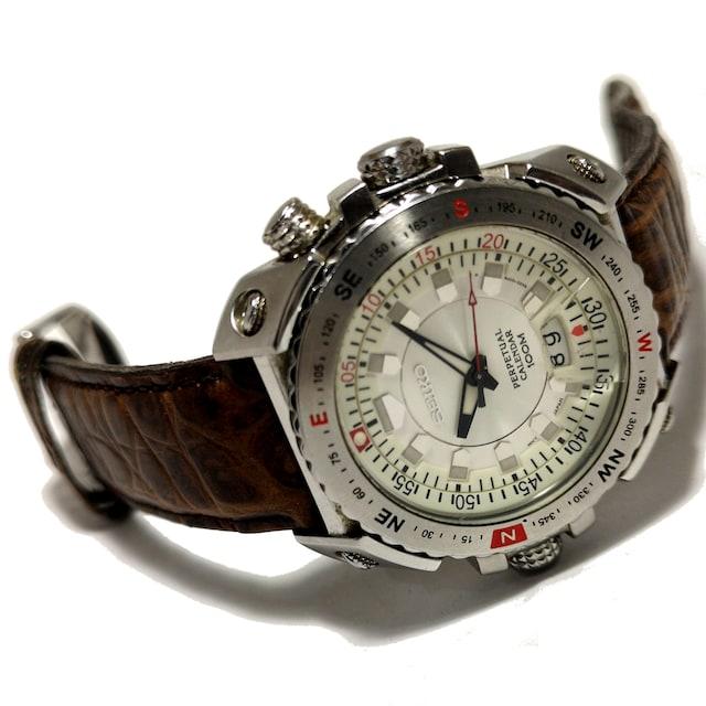 美品 1スタ★SEIKO セイコー【Perpetual Calendar】メンズ腕時計