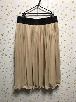 Mサイズ 膝丈 ソフトプリーツスカート