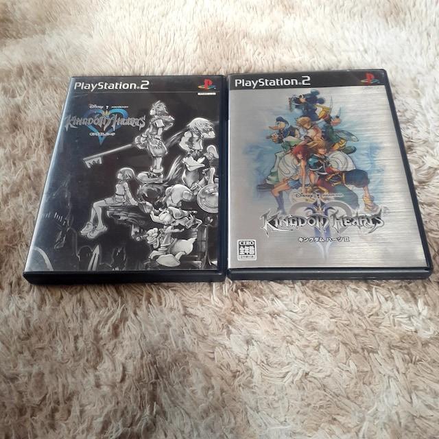 キングダムハーツ 1、2、 PS 2 ソフト 2本セット  < ゲーム本体/ソフトの