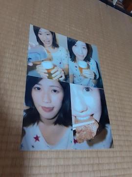 渡辺麻友生写真生写真2L版4枚