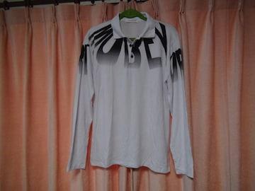 JUISHDENのアルファベットの白のポロシャツ(L)!。