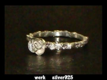 送料無料☆werk☆silver925薔薇リング☆バラ指輪☆10号
