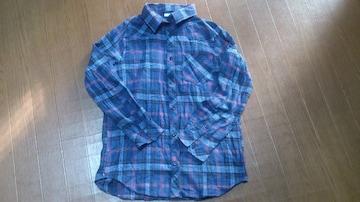 ☆しまむら ネルシャツ☆美品 Mサイズ