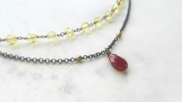 *カットガラスの羽織紐*赤メノウ 17052