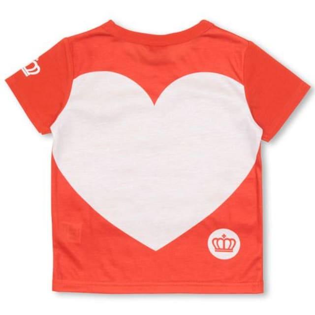 新品BABYDOLL☆130  ロゴ&BIGハートTシャツ 赤 ベビードール < ブランドの