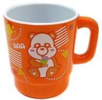え〜パンダ(橙) メラミンマグカップ  A A A
