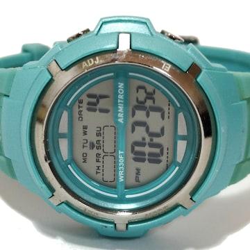 良品【980円〜】ARMITRON ランニング腕時計