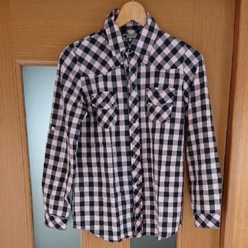 【値下げ不可】極美品!!2way チェックシャツ  M