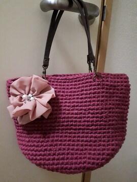 新品ハンドメイド編み物ハンドバック