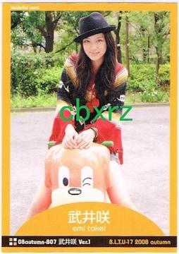 武井咲 雑誌付録カード BLT u-17 2008  emi-takei