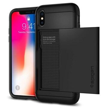 スマホケース iPhone XS X ケース スリム・アーマー ブラック