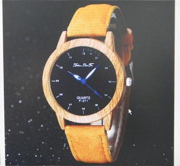 腕時計 レディース 木目調 カジュアル 茶ベルト