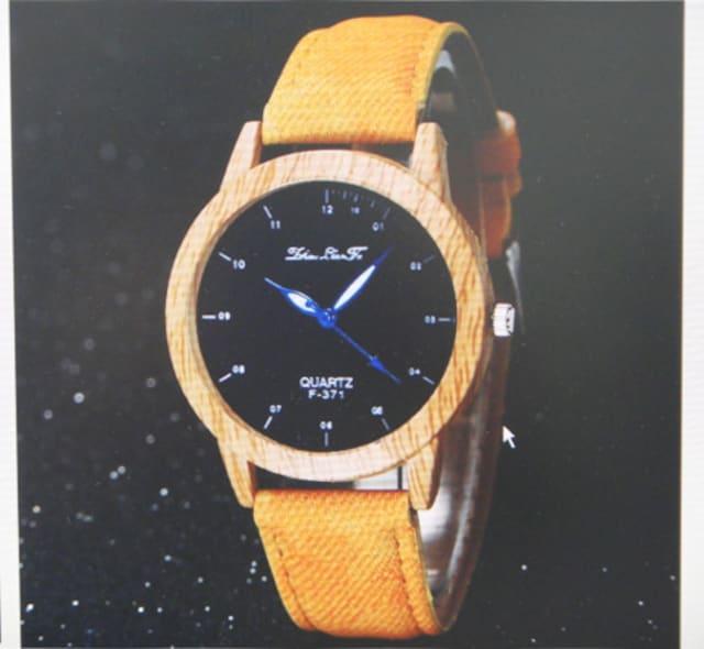 腕時計 レディース 木目調 カジュアル 茶ベルト  < 女性アクセサリー/時計の