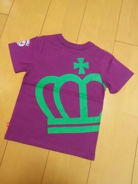 新品斜め王冠Tシャツ紫100ベビードールBABYDOLLベビド