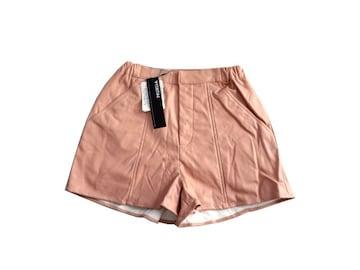 新品 定価6300円 MURUA ムルーア ピンク 合革 ショートパンツ