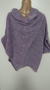 ナイスクラップ紫むらさき3wayで着れるカットソー