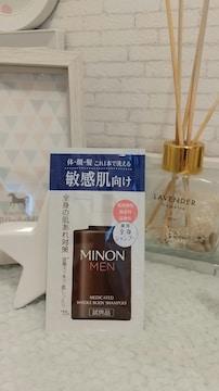 [新品]ミノン/メンズ/敏感肌向け/体顔髪これ一本で洗えます//