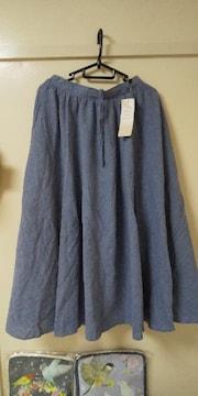 サマンサモスモス♪リネン混柄アソートフレアスカート未使用品