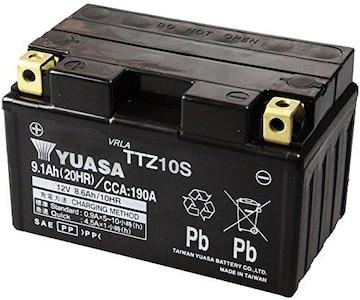 シールド型 バイク用バッテリー TTZ10S