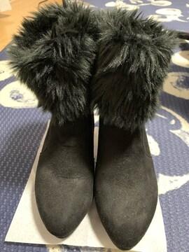 美品  ファーショートブーツ
