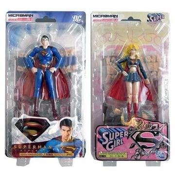 ミクロマン ミクロアクションシリーズ スーパーマン(劇場版)& スーパーガール 2体セット フィギュア