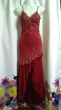 (ム)Ivy・高級 赤ロングドレス