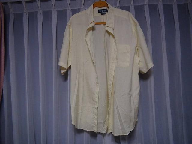Ralph Laurenのドレスシャツ(LL)イエロー!。 < 男性ファッションの