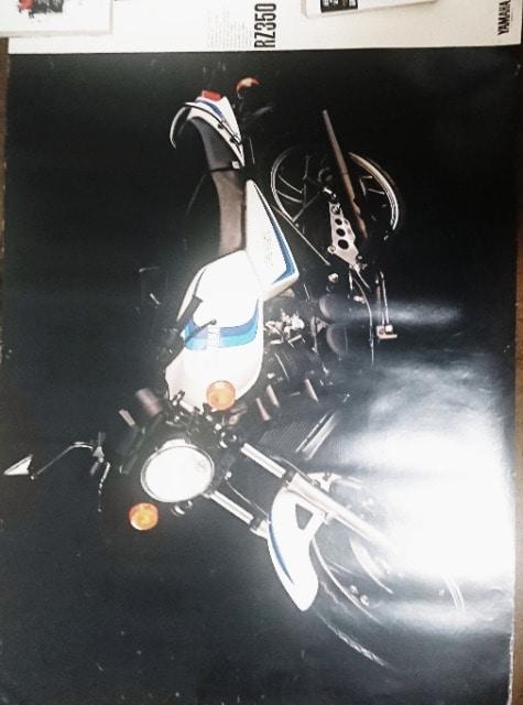 RZ350 4U0 39年前の販促用ポスター < 自動車/バイク