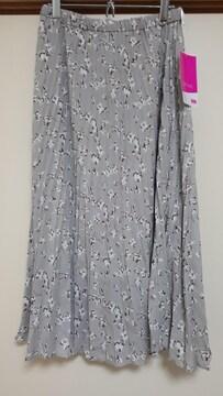 新品 花柄が可愛いロングプリーツスカート