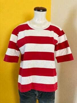 アニエスベー☆赤白ボーダーTシャツ☆日本製☆サイズ3☆古着
