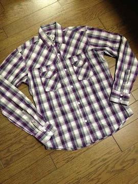 美品TAKEO KIKUCHI チェックシャツ タケオキクチ