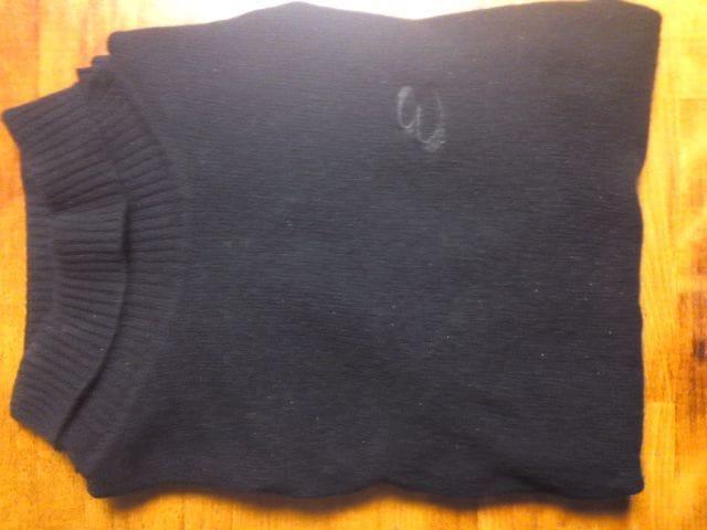 ★矢沢永吉のカシミヤのセーター黒です☆  < タレントグッズの