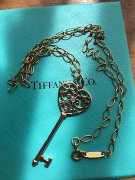Tiffanyエンチャントハートキーダイヤ750(K18ダイヤ)