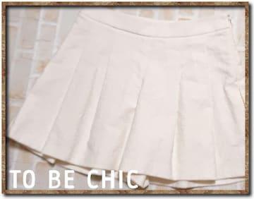 トゥービーシック コットンキュロット 白