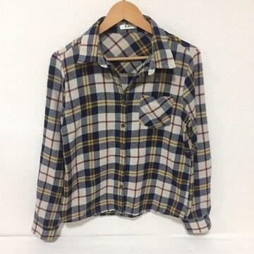 #GRLチェックシャツ M