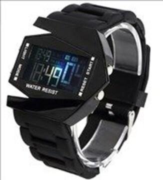 ★多機能★ デジタル腕時計 防水 アラーム サバゲー