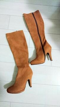 エスペランサ 新品未使用 ブーツ キャメル サイズS