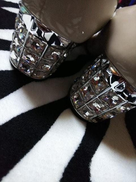 新品 超激カワヒールキラキラパンプス(///ω///)♪23・5�p  < 女性ファッションの
