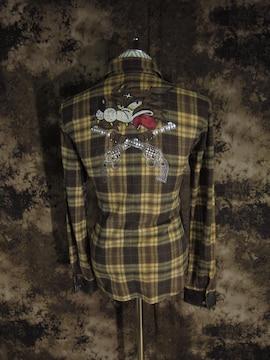(定価51700)ロアー roar・クロスガン×ウルフ チェックシャツ