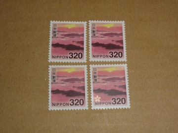 未使用 320円切手 4枚 普通切手
