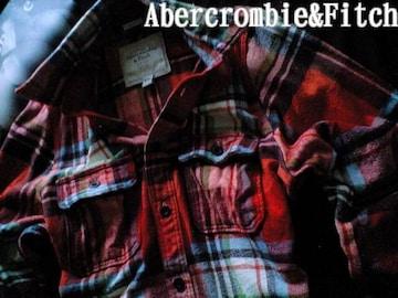 【Abercrombie&Fitch】最高峰 Vintage 厚手フランネルシャツ XXL/Orange