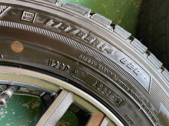 1082645)国産スタッドレスタイヤアルミホイ-ル4本セットコンパクトカ-175/65R14送料無料 < 自動車/バイク